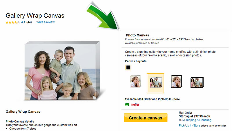 Make a Canvas Print at Snapfish